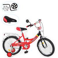 Велосипед PROFI детский 18д. P 1846A, красно-черный