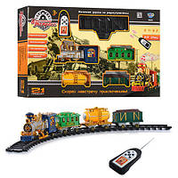 Детская игрушка железная дорога Limo Toy (Лимо Той) 0622/40353, классический экспресс на радиоуправлении, паровоз, пассажирский вагон, грузовой вагон,