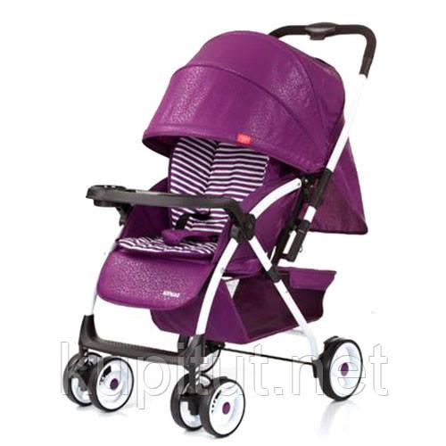 Детская коляска A-58-9, прогулочная, книжка, фиолетовая