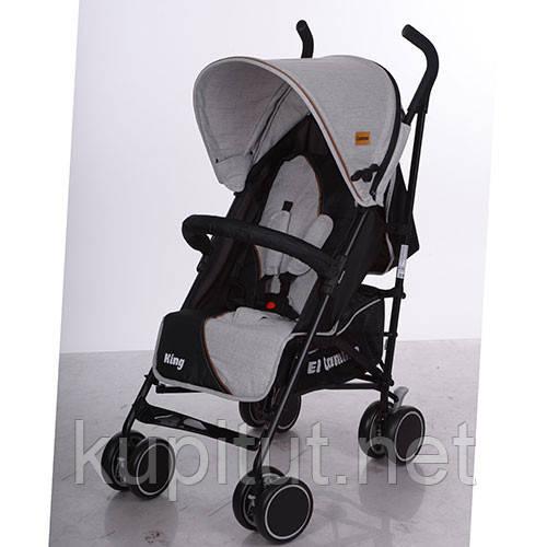 Детская коляска King M 3427-11, прогулочная, серая