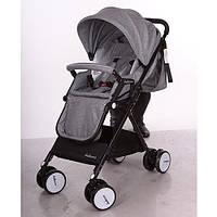 Детская прогулочная коляска A8, grey, серая