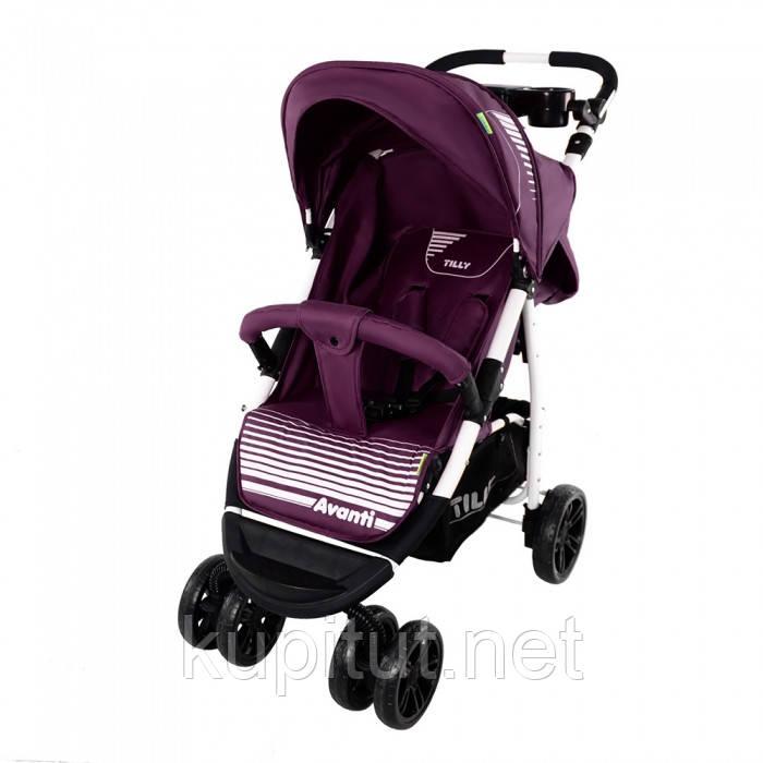 Детская прогулочная коляска Tilly Avanti T-1406 purple, фиолетовый