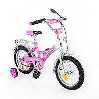 Детский двухколесный велосипед Tilly Explorer T-21411 pink + silver, 14 дюймов, для девочки