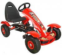 Детский спортивный картинг на педалях c резиновыми колесами G18