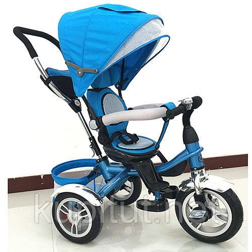 Детский трехколесный велосипед  Turbo Trike M 3114-5A синий