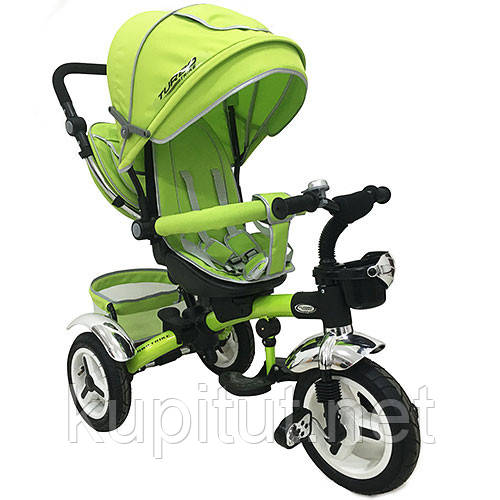 Детский трехколесный велосипед Turbo Trike M 3200-4A, зеленый
