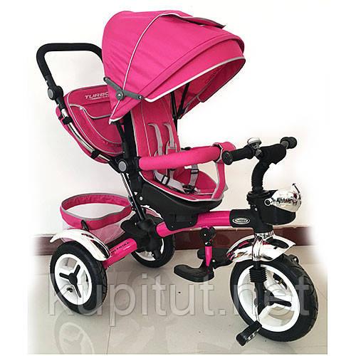 Детский трехколесный велосипед Turbo Trike M 3200-6A, розовый