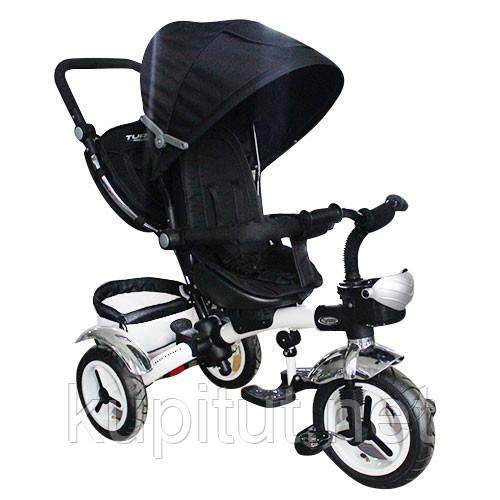 Детский трехколесный велосипед Turbo Trike M 3200-9A, черный