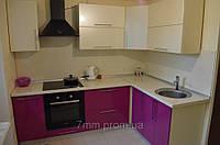 Кухня малиновая, фото 1