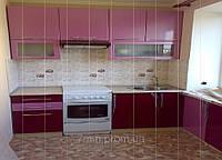 Кухня мдф розовый перламутр