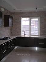 Кухня фасад дерево цвет орех темный