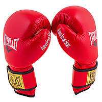 Боксерские перчатки Кожа Everlast American STAR EV-8 Красные EV-8 AStarR