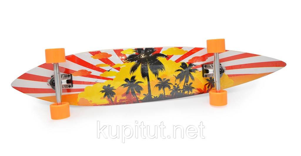 """Скейт """"Langboard"""" 4608-1 оранжевый"""