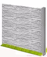 Плита забора (форма РВАНЫЙ КАМЕНЬ) (h-500/l-2000)(g-48...66кг)