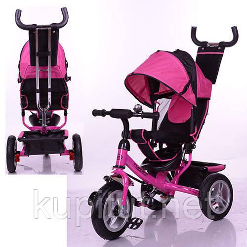 Трехколесный велосипед Turbo Trike M 3113-6A розовый