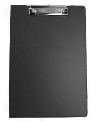 Папка-планшет с клипом, А4, PVC, черн.., 4-258, 4Office