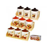 Набор емкостей Кантри 400 мл для сыпучих продуктов 6032-4