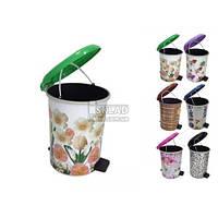 Ведро для мусора №2 10л на педальке Декор 370 Elif