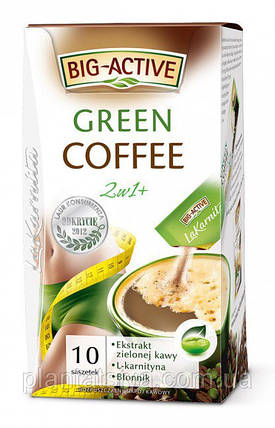 Зелёный кофе Big-Active La Karnita Green Coffee 2w1 – 10п.x12г, фото 2