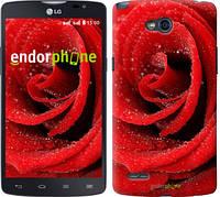 """Чехол на LG L80 Dual D380 Красная роза """"529u-332"""""""