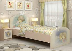"""Дитяче односпальне ліжко """"М+Д"""" (90x190 см) ТМ Вальтер-С Венге світлий + Фотодрук K3-1.09.43"""