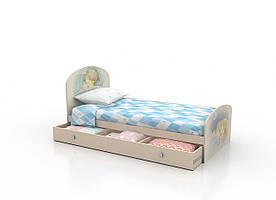 """Дитяче односпальне ліжко """"М+Д"""" з ящиком (90x190 см) ТМ Вальтер-С Венге світлий + Фотодрук K3Y-1.09.43"""