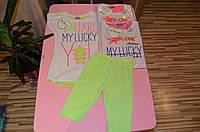 Летний комплект для девочек с лосинами EMMA 4-12 лет, фото 1