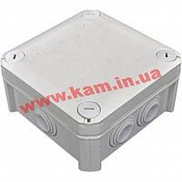 Коробка распределительная, внешняя, пластик, 114х114х60, 6 вводов, IP66, без клем, OBO (2007061T60)