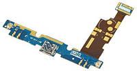 Шлейф (Flat cable) LG E970/ E975 с гнездом на зарядку и микрофоном,  подсветкой кнопок и компонент