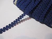 Тесьма декоративная Тасьма  декоративна шанель вузька 6мм, синя