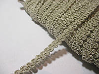 Тесьма декоративная Тасьма  декоративна шанель вузька 6мм,  бежево-сіра