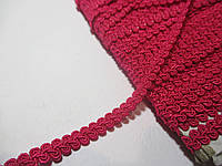 Тесьма декоративная Тасьма  декоративна шанель вузька 6мм, малинова