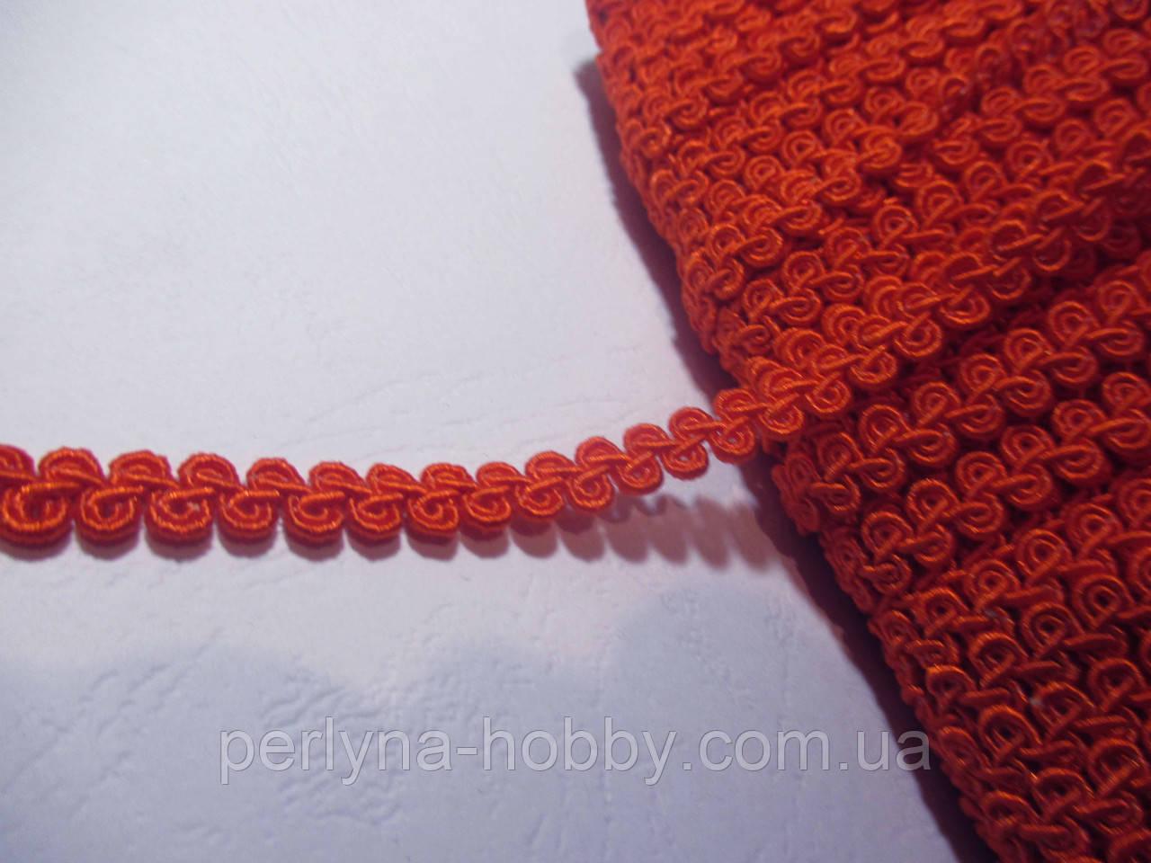Тесьма декоративная Тасьма  декоративна шанель вузька 6мм, оранжевий