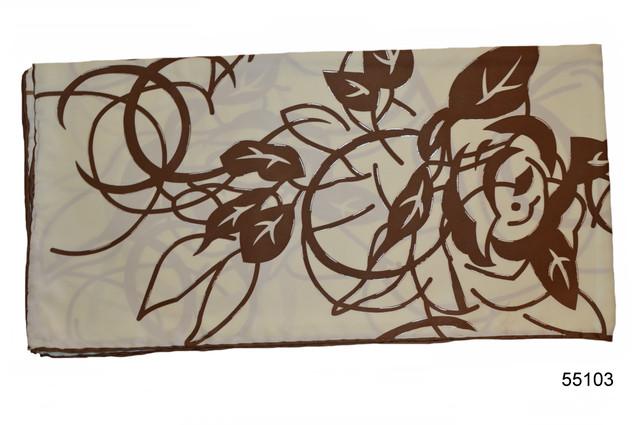 Шелковый бежевый атласный платок 2