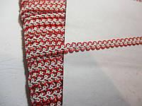 Тесьма декоративная Тасьма  декоративна шанель вузька 6мм, червона з білим, фото 1