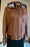 Куртка женская кожаная с капюшоном Next, Размер 48-50 (M, UK 14).