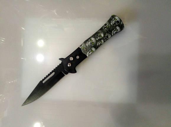 Нож складной череп светлый, фото 2