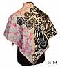 Шелковый черно-розовый атласный платок