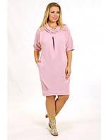 Коктейльное платье с рукавом летучая мышь и карманами