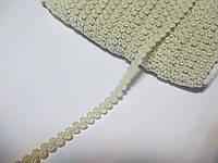 Тесьма декоративная Тасьма  декоративна шанель вузька 6мм, кремова