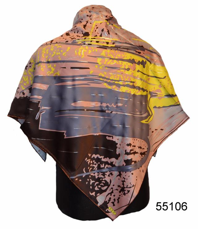 Шелковый атласный платок модерн 1