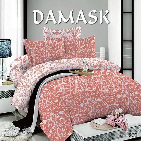 Комплект постільної білизни Вилюта поплін Дамаск 002 двоспальний, фото 2