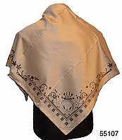 Шелковый бежевый римский атласный платок, фото 1