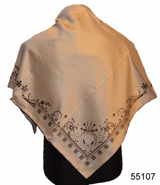 Шелковый бежевый римский атласный платок 1