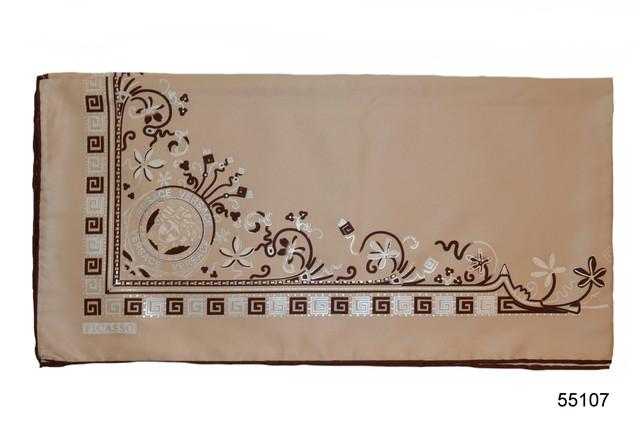 Шелковый бежевый римский атласный платок 2