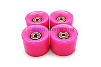 Колеса для Пенни борда CLASSIC розовые полиуретановые 60 х 40 мм. 1 шт