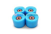 Колеса для Пенни борда CLASSIC голубые полиуретановые 60 х 40 мм. 1 шт