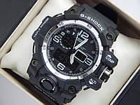 Спортивные мужские часы Casio G-SHOCK ga-1000 черные с серебристым