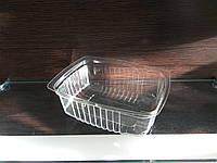 Контейнер полистирольный прозрачный 400 мл с крышкой