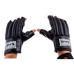 "Перчатки ""сосиски"" BWS  кожа черные BWS-0159XL"